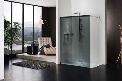 Freistehende Dusche • Duschabtrennung Glas - duka