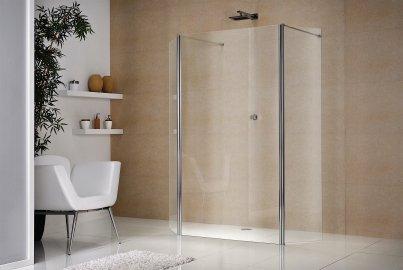 freistehende dusche duschabtrennung glas duka. Black Bedroom Furniture Sets. Home Design Ideas